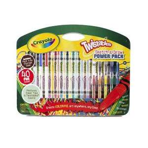 GREAT DEALS @ ASDA CRAYOLA TWISTABLES 40 PACK £1.75 PLUS MORE
