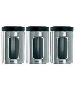Brabantia Brilliant Stainless Steel Window Canister Set £13.32 @ Argos
