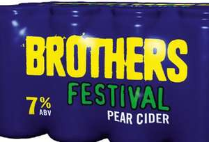Brother's 7% Festival Pear Cider 24 Cans for £16 @ Tesco