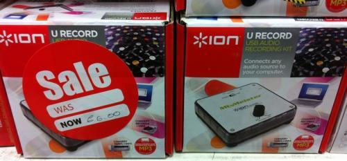 ION U Record USB Audio Recording Kit - £6 @ Tesco (Instore)