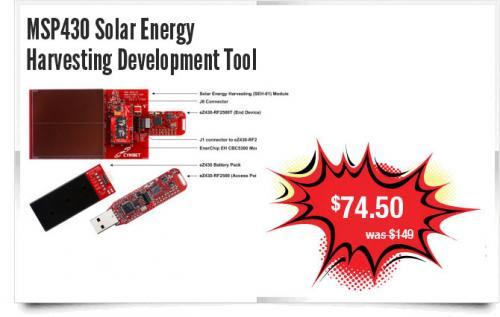 Solar Energy Harvesting Development Tool - £47.79 @ Texas Instruments