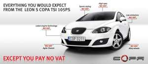 VAT free Offer on Seat Leon and Ibiza (Alloys, Climate, Auto Lights & Wipers, Cruise)