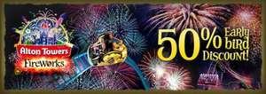 50% off entry for fireworks @ Alton towers