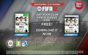 Free FIFA 12 Customisable Club Cover XBOX 360 Or PS3