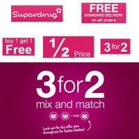 Superdrug Offers – 50% off, up to £10.00 extra discount and free delivery