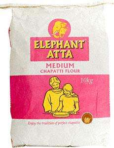 Elephant Atta Medium Chapati Flour 10kg £4 @ Asda