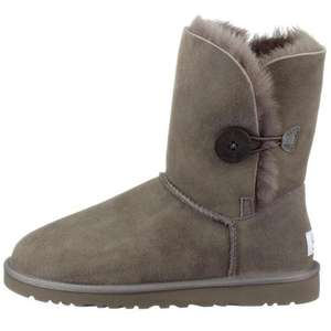 Ugg Australia Women's Bailey Button Flat (GREY) for £83.18 (with voucher code) @Amazon.co.uk!!!