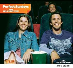 2 For 1 Cinema tickets at Vue today with Sunday Times - £2.20