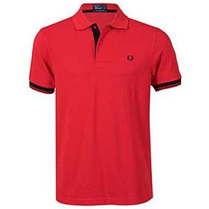 Fred Perry  RED Hidden Tipped Polo Shirt £24.99 Normally £54.99 at  getthelabel.com