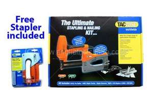 TACWISE TAC1031 ULTIMATE STAPLING AND NAILING KIT 181EL AND 140EL 240V + FREE STAPLER @ Anglia Tool Centre £49.99 + £4.99 P+P