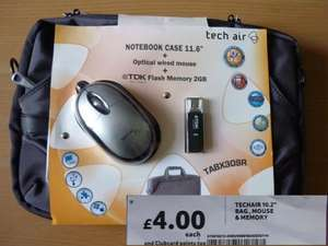 Notebook bundle: case, mouse, and 2GB USB stick. £4 in Tesco instore.
