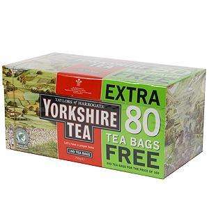 Yorkshire Tea Teabags 240 pack for £3.99 at Home Bargains Online