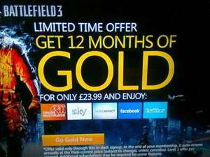 12 months Xbox Live GOLD 40% off - £23.99 @ Xbox Dashboard