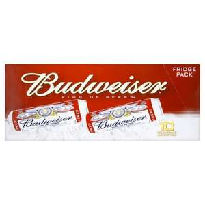 BUDWEISER 10 X 440ML FRIDGE PACK £7 @ ASDA