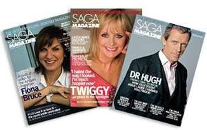 Saga Magazine subscription for 3 years just £7.95