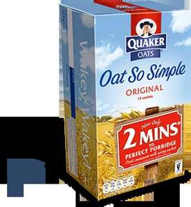 Quaker Oat so Simple Porridge All varietes (10-12 Sachets) £1 @ Asda (50p with voucher)