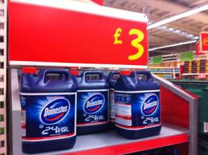 Domestos bleach 5LITRES scanning at £1.50 at Asda!!