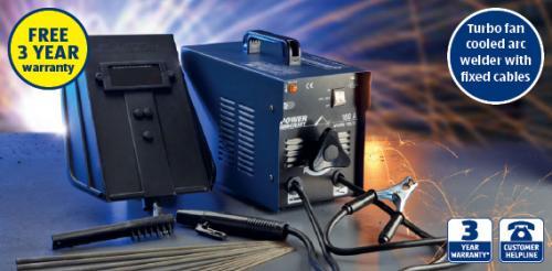 Turbo Fan Cooled Arc Welder current range 55-160 amps  £34.99 Aldi Thurs 27th