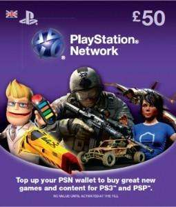 £50 Playstation Network (PSN) Card - £40 (with voucher) Delivered @ Sainsburys Entertainment + Nectar Points