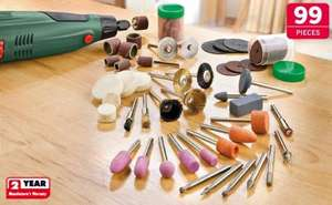 99 Piece Rotary Tool Accessory Kit  £4.99 @ Lidl instore from Thurs 27th