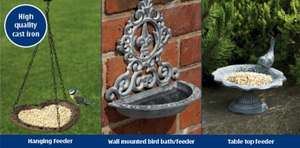 ALDI - Cast Iron Bird Bath/Feeders  - £4.99