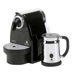 Nespresso Essenza Auto by Krups with Aeroccino, Black @ Amazon £90