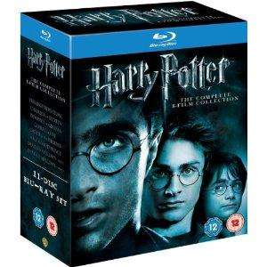 Harry Potter: Complete 8 Film Collection (11 Disc BluRay Boxset) £32.30 delivered @ HMV