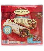 Discovery tortilla wraps half price at the Co-op 85p plus free discovery fajita seasoning mix