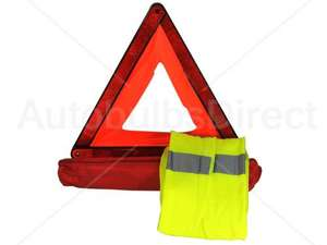 AUTOBULBS DIRECT - Warning Triangle & Hi Vis Vest set £3.99 + £2.30 shipping