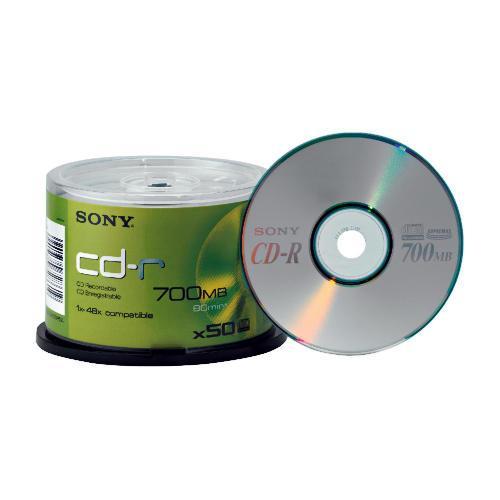 Sony CD-R 50 Pack @ Tesco £5.04 HALF PRICE !!! CHEAPEST AROUND