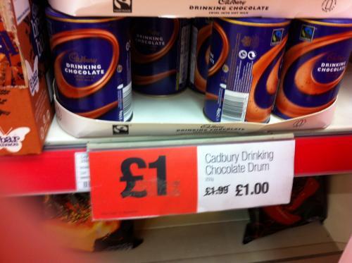 Cadburys drinking chocolate 250g £1 instore @ Co-op