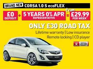Brand new Corsa S for £29.99 per week from Peter Vardy