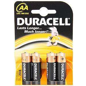 Duracell AA batteries pack of 4, for £1.49 from Home Bargains - available to purchase online.