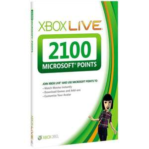 Xbox Live 2100 Microsoft Points for only £13.47 at Asda Direct