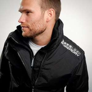 Superdry Men's Black & White or Women's Pink & White Super Technical Windcheater £40 + FREE Delivery @ Ark Clothing