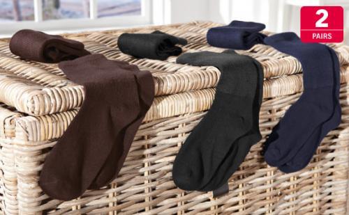 Diabetic Socks - 2 Pairs (non elastic tops) - 3 colurs - £1.99 @ Lidl