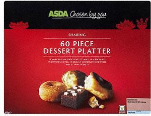 ASDA Sharing Dessert Platter (60 per pack - 876g) instore - £2