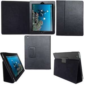 Apple iPad 2 Leather Case With Magnetic Sleep Wake Feature £10.99 incl del was £24.99 @ Tecknet