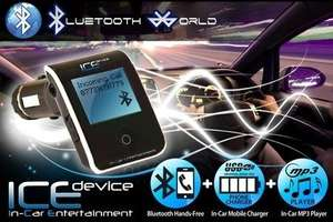 ICE Device All-In-One Bluetooth Car Kit (£19) Or With Universal Phone Charger Bundle (£22) from Bluetooth World (Up to 71% Off) with Groupon (bluetoothworld.net)