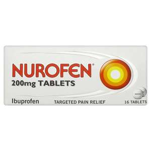 Nurofen 200MG Tablets 16 Pack - 25p @ Lidl