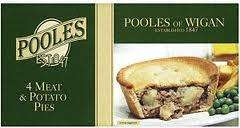 Pooles Pies (4 pack) Buy One Get One Free ie 8 pies for £2.00 @ Morrisons