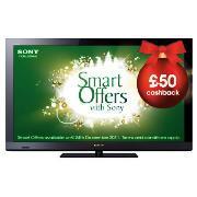 "Sony 32"" LCD 1080p HDTV USB Record + Internet £349 - Cashback - Tesco KDL32CX520"