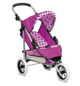 Pink Deluxe Dolls 3 Wheels Foldable Buggy Pram Pushchair Stroller Toy - £23.98 delivered @ eBay The Magic Toy Shop