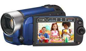 "Canon FS306 Flash Camcorder 37X Optical Zoom 2.7"" LCD (Blue) - £123.98 delivered @ eBay Argos"