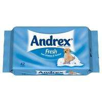 Andrex moist toilet tissue (bum wipes)   99p @ superdrug