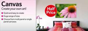 Create your own canvas prints - Half Price @ Tesco Photo