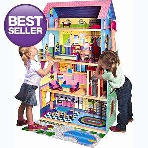 Large wooden barbie style doll house with furniture £60 at asda