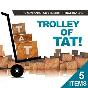 BigPockets.co.uk Trolley Of Tat -- 3 or 5 Random Items for £4.99 or £7.99