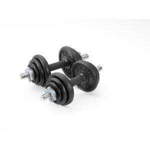 York 20KG cast iron dumbell set @ Amazon