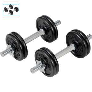 Pro Power Dumbell set 18kg CAST IRON £24.99 @ Argos